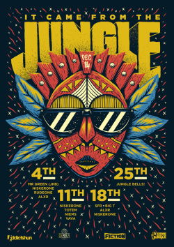 Graphic Design | Poster | It Came From The Jungle – Ian Jepson