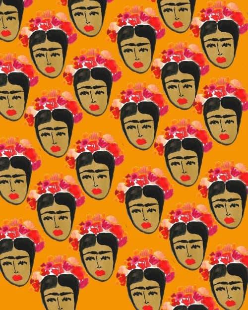 Patterns   Frida print. from michellepimm.tumblr.co