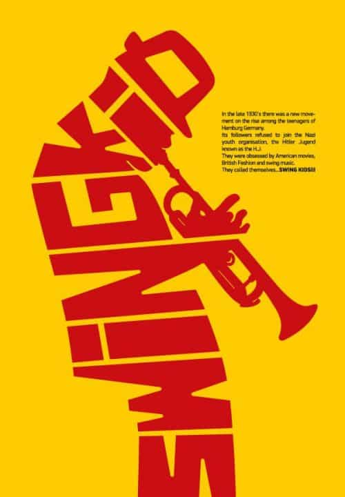 Graphic Design | Saul Bass Inspired – The Swing Kid Typographic Poster