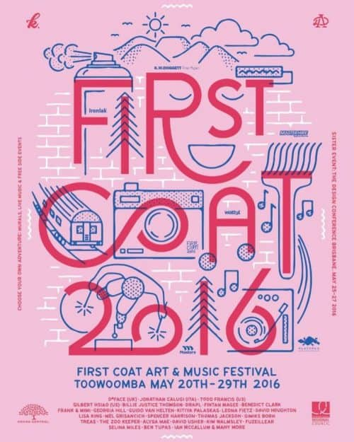 Graphic Design | Poster | First Coat Festival 2016