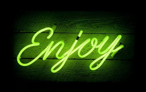 Neon   Neon Type – Enjoy – Neon Light Sign