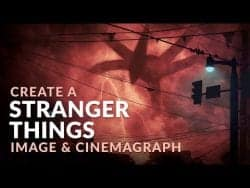 PHLEARN – Create the Stranger Things Shadow Monster & Cinemagraph in Photoshop