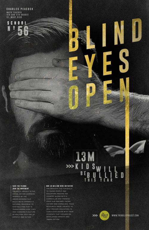 Graphic Design | Poster | BLIND EYES OPEN – Anti-Bullying
