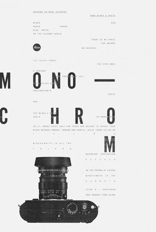 Graphic Design | Saatchi & Saatchi monochrome ad