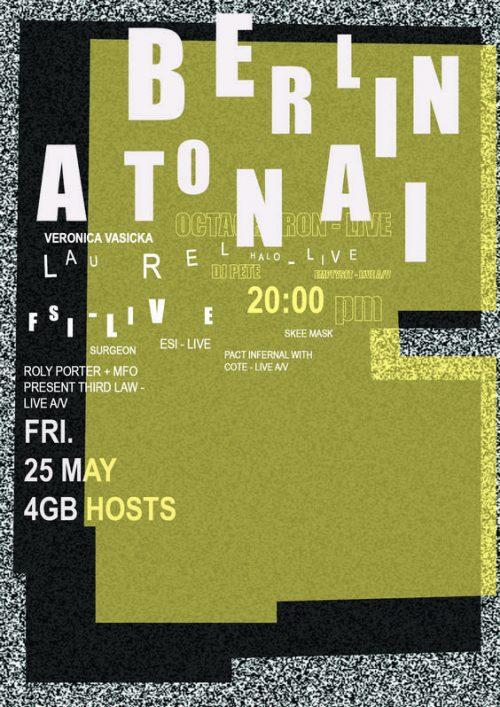 Graphic Design | Poster | Festival Poster Berlin Atonal