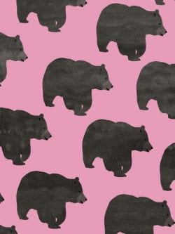Patterns | Bear Art Print by Georgiana Paraschiv Society6 from