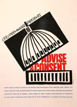 Graphic Design | Saul Bass – Advice & Consent Poster 1962