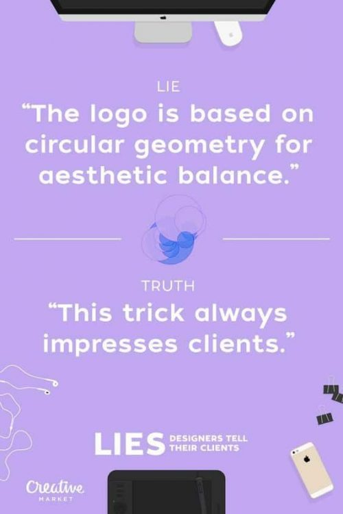 Graphic Design   Poster   Lies Designers Tell Their Clients 08
