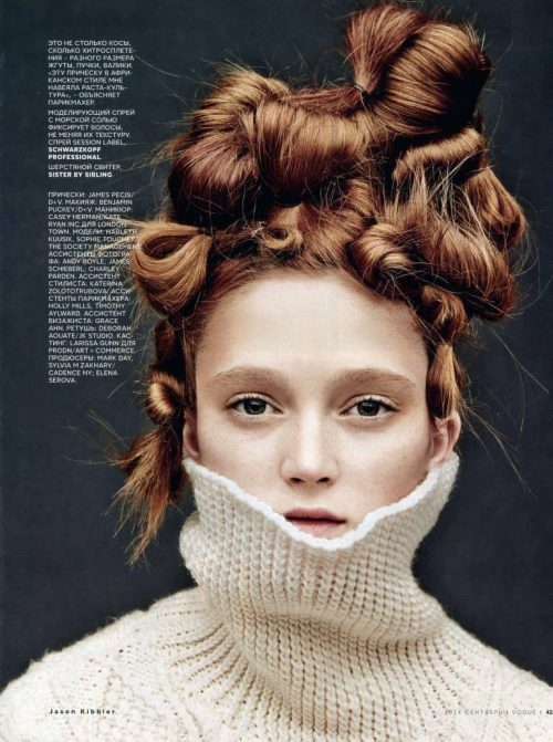 Graphic Design | Magazine | Sophie Touchet Vogue Russia