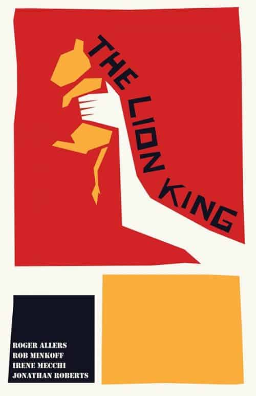 Graphic Design | Saul Bass Inspired Lion King Key Art