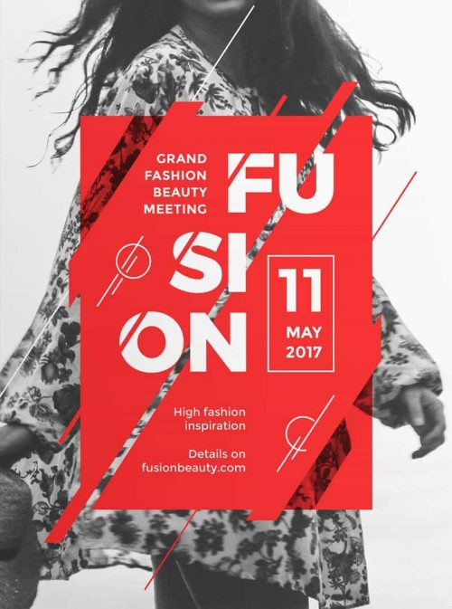 Graphic Design | Poster | Fusion – Modern and Creative