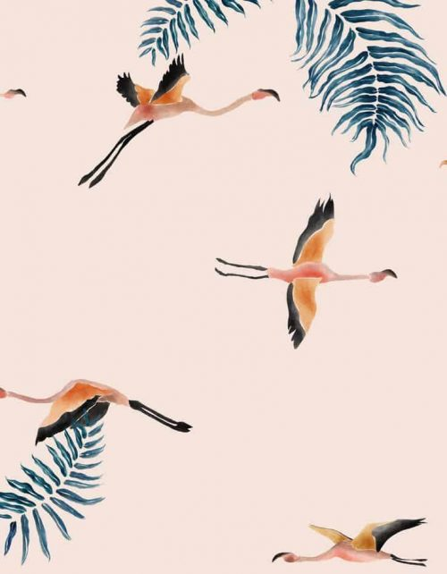 Patterns | Crane pattern in blush pink from behance.ne