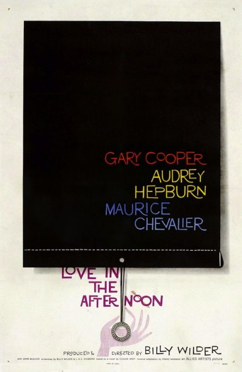 Graphic Design | Saul Bass – Love in The Afternoon Key Art