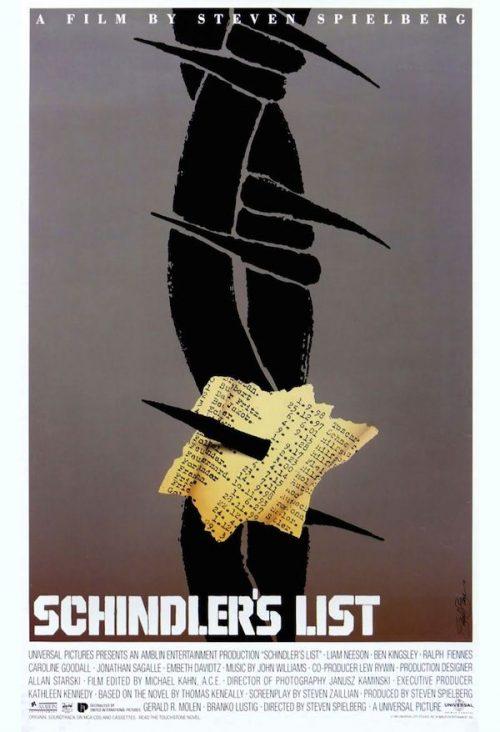 Graphic Design | Saul Bass – Schindlers List Key Art