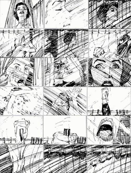 Graphic Design | Saul Bass – storyboards for Psycho
