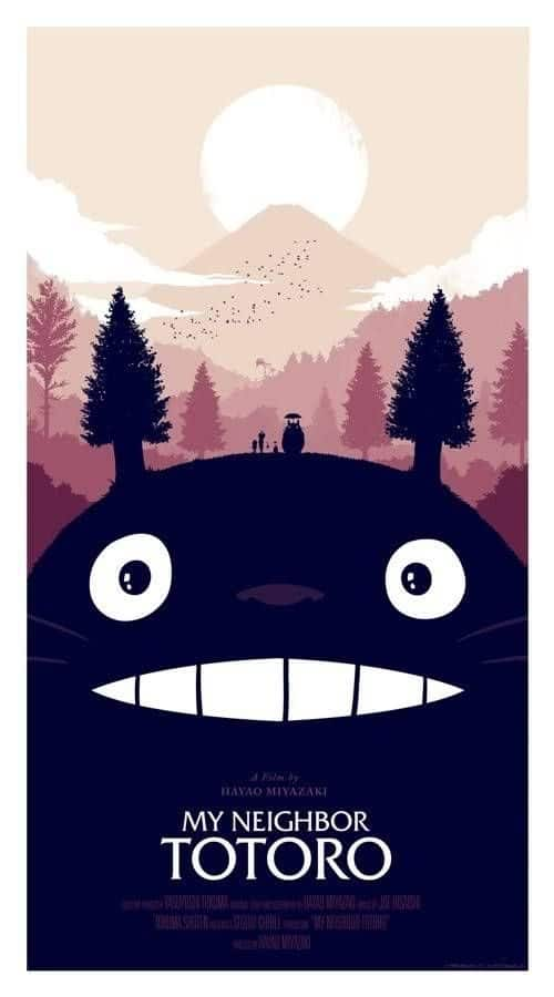 Graphic Design | Poster | Olly Moss' Poster for My Neighbor Totoro