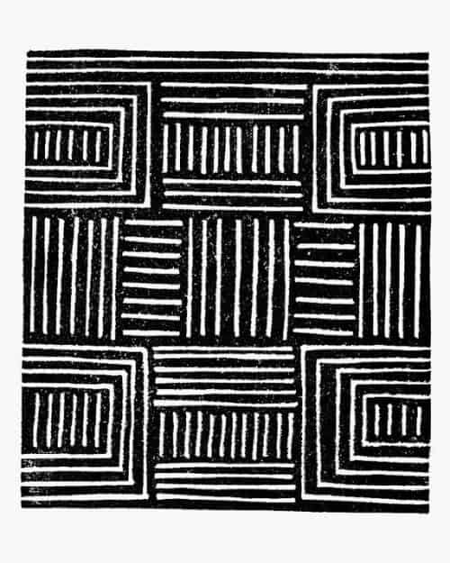Patterns   African Pattern Handmade Art Print Black by Printerella on