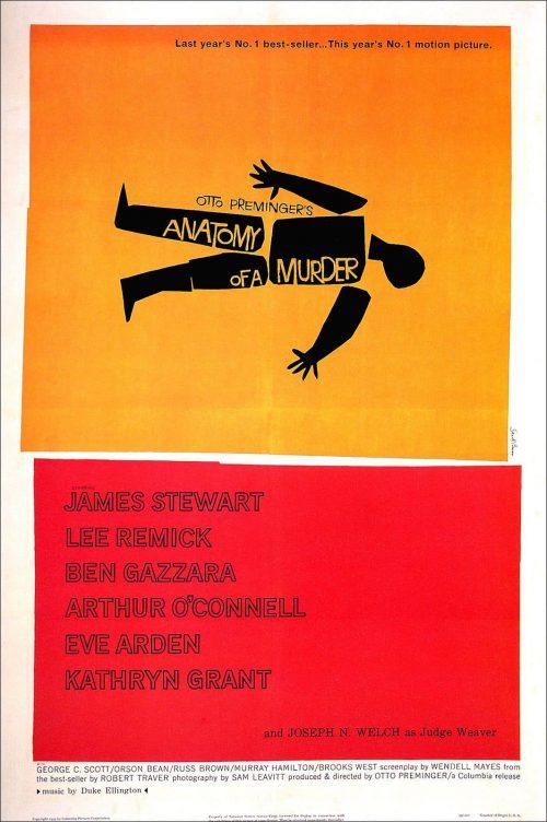 Graphic Design | Saul Bass – jAnatomy of A Murder Poster
