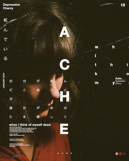 Graphic Design | Poster | Ache – Depression cherry on I