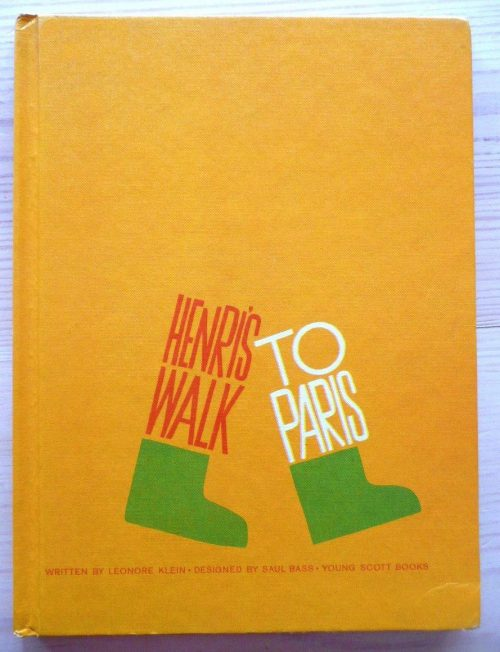 Graphic Design | Saul Bass – The cover of Henri s Walk To Paris children s