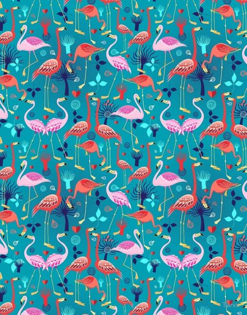 Patterns | beautiful pattern lovers flamingo by Tanor from redbu