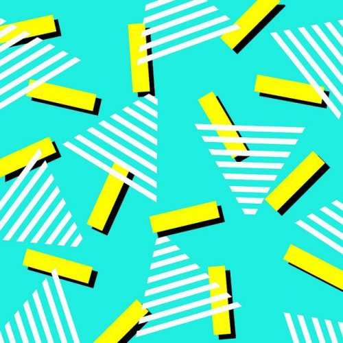 Patterns | 80 s pattern yellow aqua turquoise teal from Uploaded