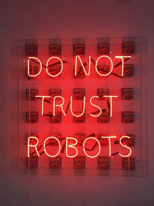 Neon | Neon Sign – Do Not Trust Robots