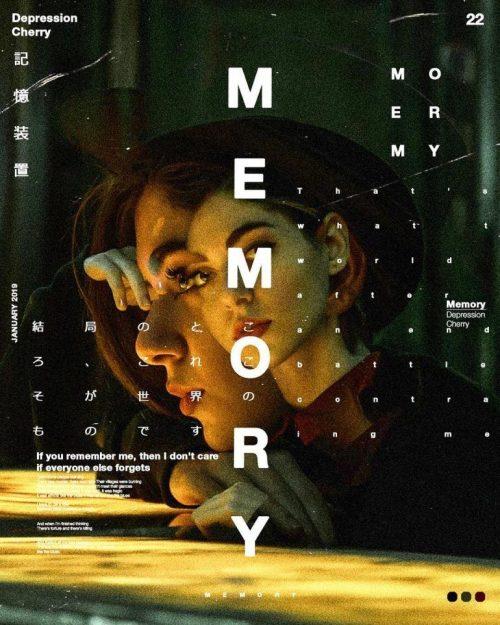 Graphic Design | Poster | Memory – Depression cherry