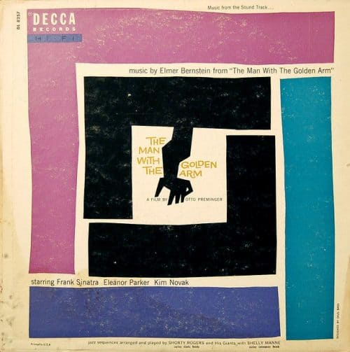 Graphic Design | Saul Bass – Elmer Bernstein – The Man With The Golden Arm (1955)