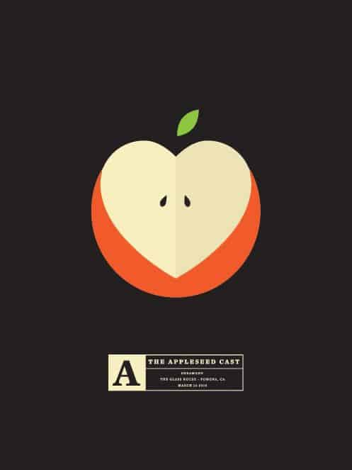 Graphic Design | Saul Bass Inspired – The Appleseed Cast by Olly Moss