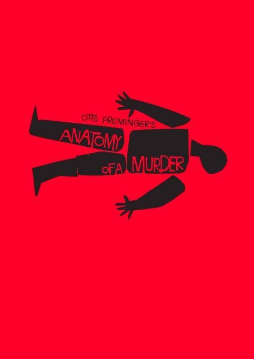 Graphic Design   Saul Bass – Anatomy of A Murder Graphic