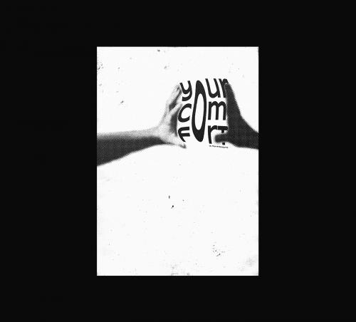 Roman Post   Black & White Minimal Poster Design