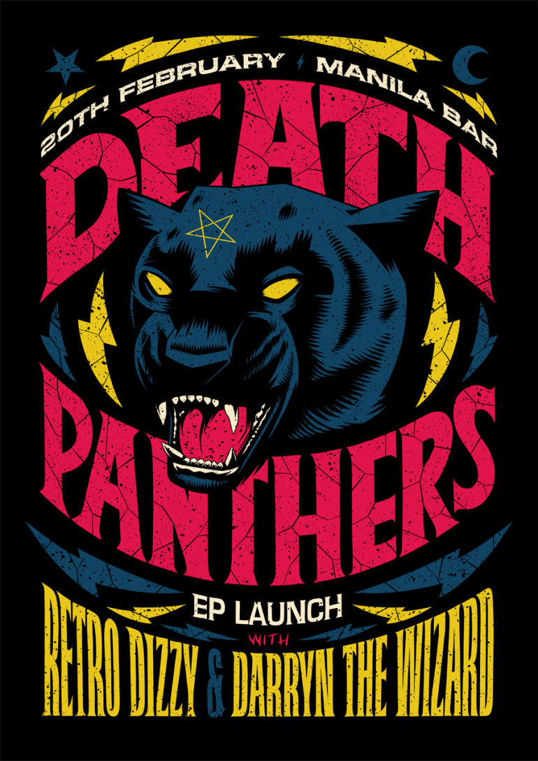 Graphic Design | Poster | Death Panthers EP Launch Poster