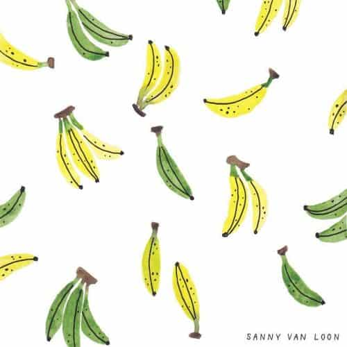 Patterns | Some Hand Drawn Banana Repeat