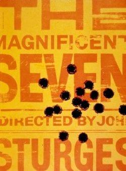 Graphic Design | Saul Bass – The Magnificent Seven Key Art