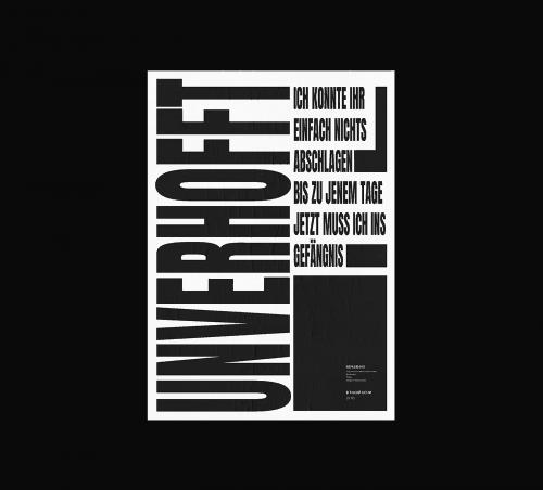 Roman Post | Black & White Minimal Poster Design035