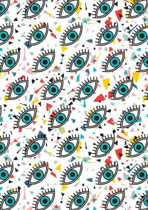 Patterns | Evil Eyes Art Print from society6.co