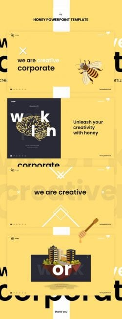 Graphic Design | Poster | Honey Powerpoint Template
