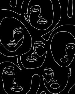 Patterns | Faces in Dark by Explicit Design Shop link in bio Soc