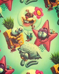 Illustration   Deconstruction Spongebob Squarepants
