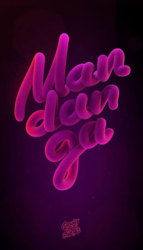 MANDANGO Cinema 4d C4D Text Design