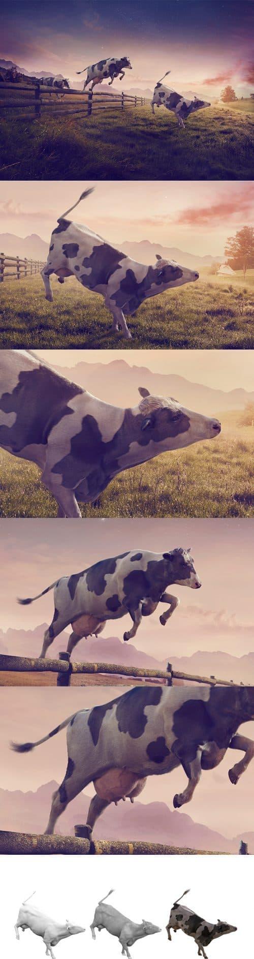3D Matte Painting   Cargill – Cows