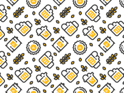 Patterns | Seamless Beer Pattern from dribbble.co