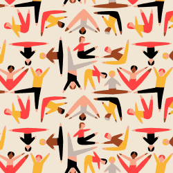 Patterns | Simple Geopetric Dancing Figures Pattern