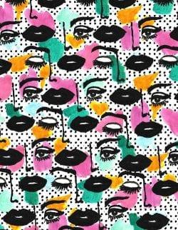 Patterns | Pop Art Face from bouffantsandbrokenhearts.tumblr.co