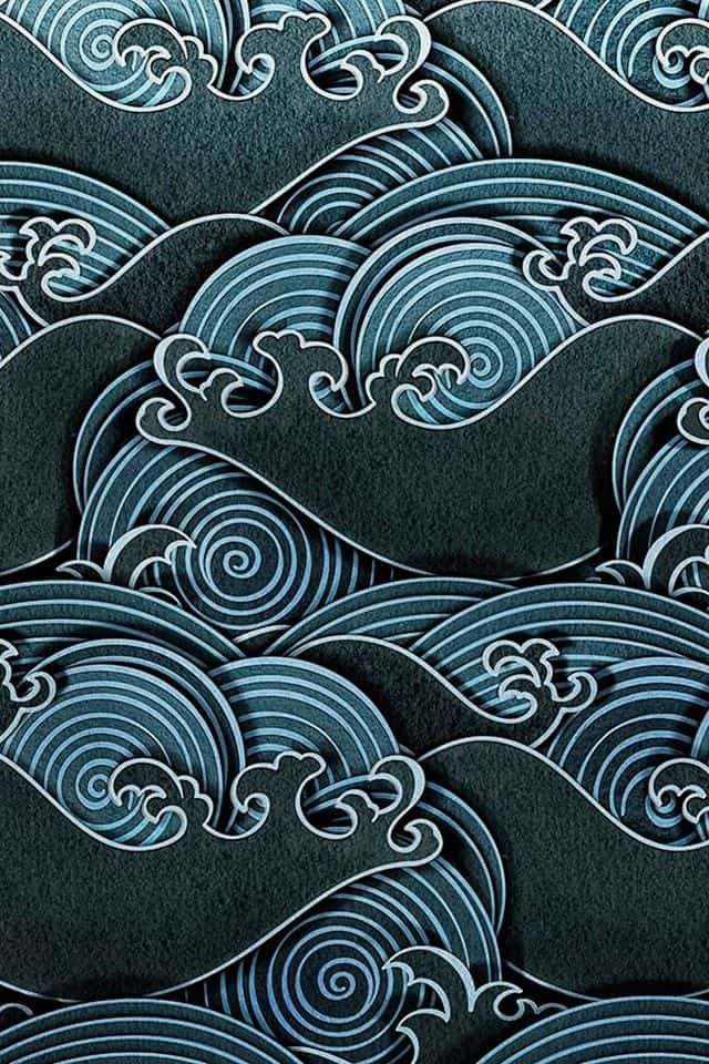 Patterns   Japanese waves pattern from huaban.co   Campfire