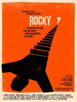 Graphic Design | Saul Bass Inspired – Rocky Key Art by Olly Moss