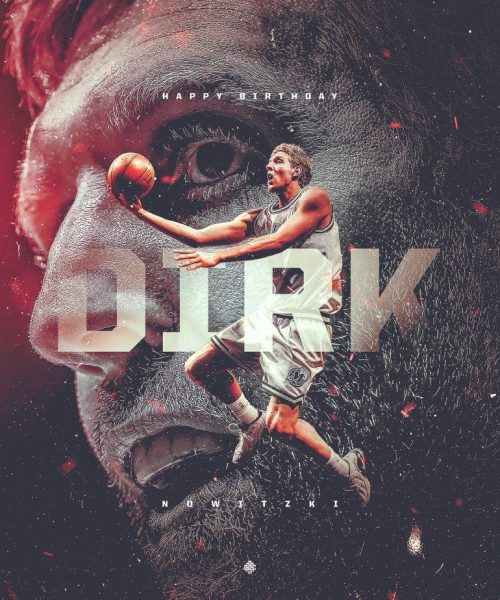 Graphic Design | Poster | NBA Art Birthday Graphic for Dirk