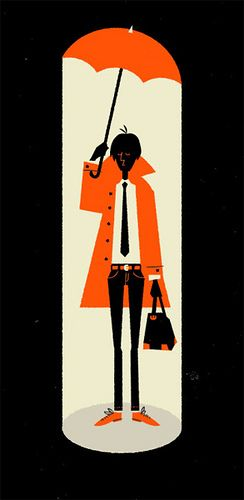 Graphic Design | Saul Bass Inspired – What I Wore Today Doodle
