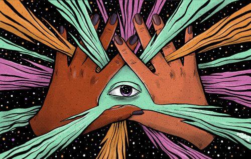 Illustration   Cosmic Eyeballs – Pedro Correa
